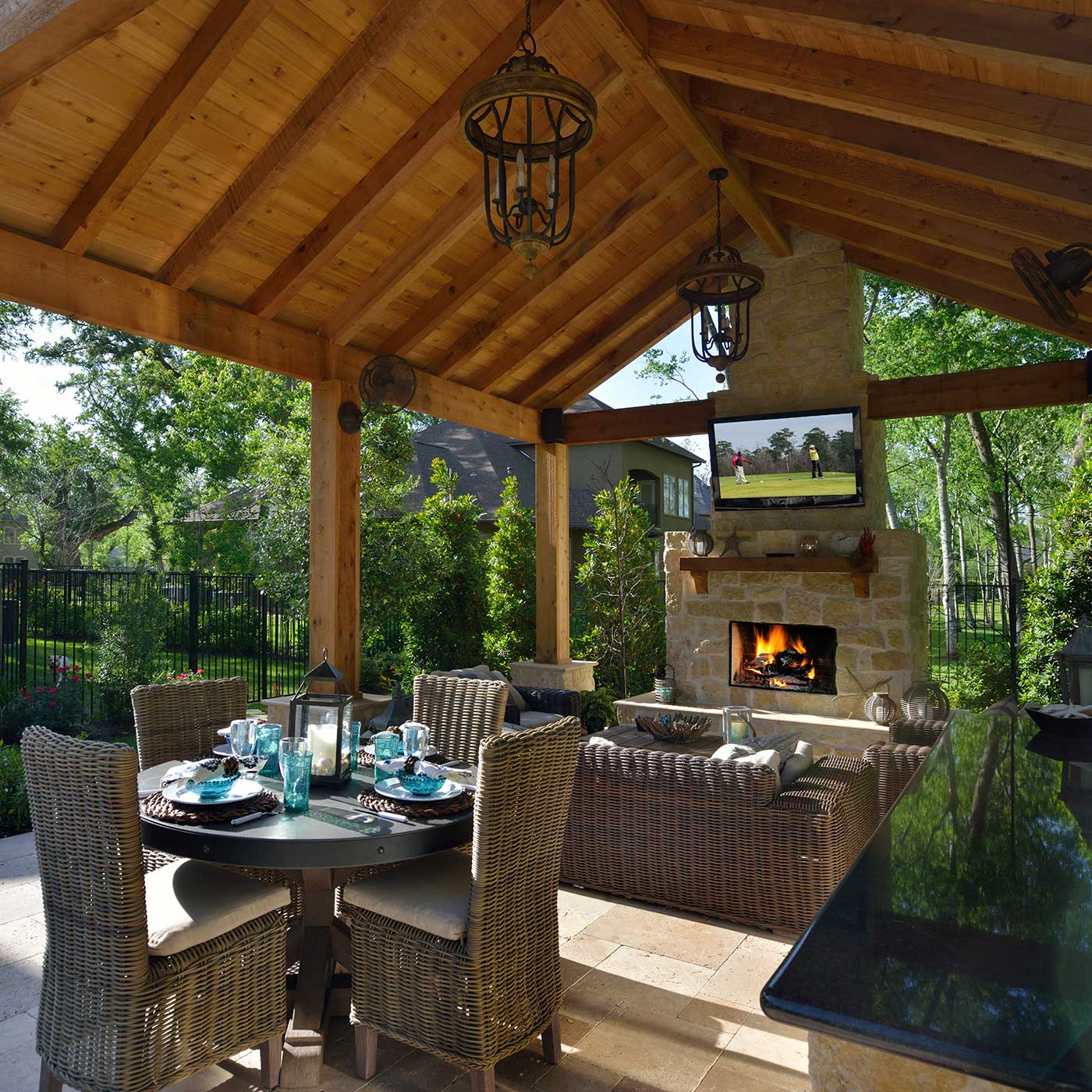 Houston outdoor living space contractor outdoor elements - Covered outdoor living spaces ...